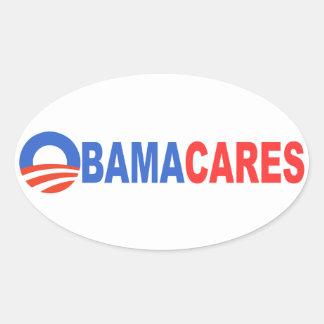 Cuidados de Obama Adesivos Em Formato Oval