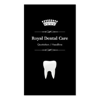 Cuidados dentários - branco preto moderno cartão de visita