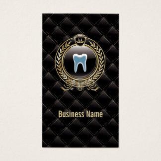 Cuidados dentários pretos reais do dentista cartão de visitas