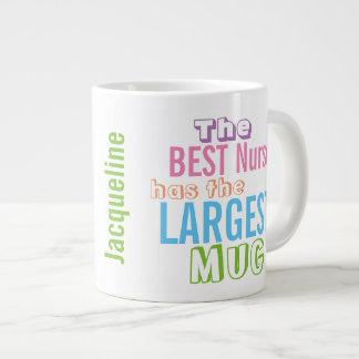Cuidados grandes da caneca da melhor ENFERMEIRA Jumbo Mug