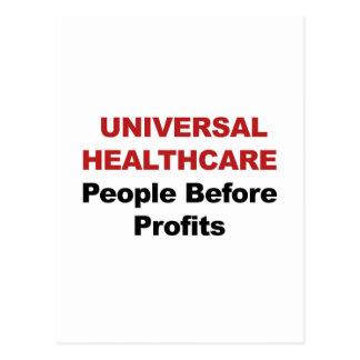 Cuidados médicos universais cartão postal