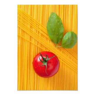 Culinária italiana convite 8.89 x 12.7cm