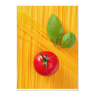 Culinária italiana convite 12.7 x 17.78cm