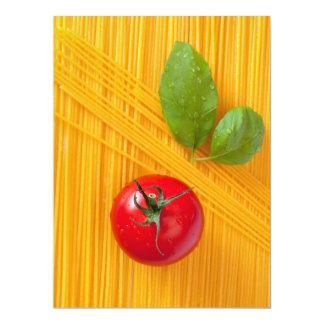 Culinária italiana convite 16.51 x 22.22cm