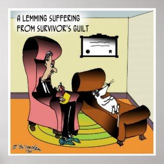 Culpa do sobrevivente do Lemming Poster