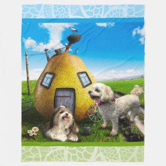 Cultivando a cobertura do velo dos cães, grande cobertor de velo