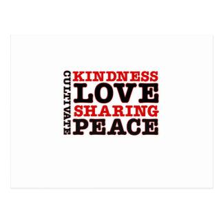 Cultive o amor da bondade que compartilha da paz cartão postal