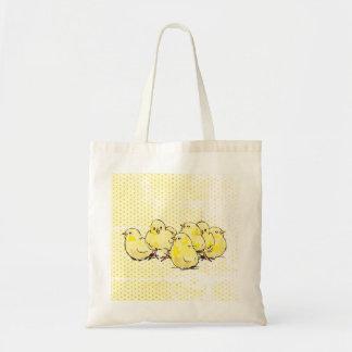 cultive pintinhos do bebê, sacola pontilhada bolsa tote