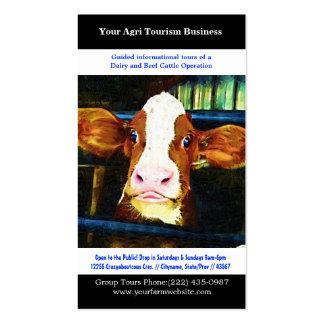 Cultivo agrícola da carne da leiteria do turismo d cartões de visitas