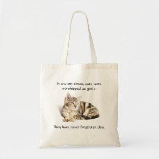 Culto do gato bolsa tote