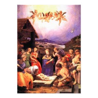 Culto dos pastores - Bronzino Convite Personalizado