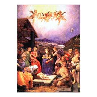 Culto dos pastores - Bronzino Convite 12.7 X 17.78cm