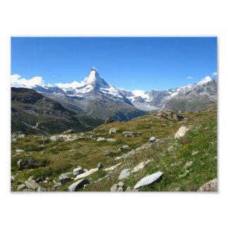 Cumes suíços de Matterhorn, impressão da foto de