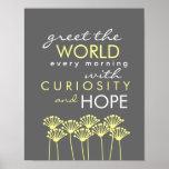 Cumprimente o mundo com curiosidade & espere o pos