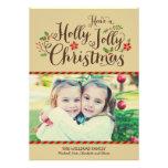 Cumprimento alegre do cartão com fotos do Natal |  Convite