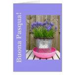 Cumprimento azul comum da páscoa dos hyacints - it cartoes