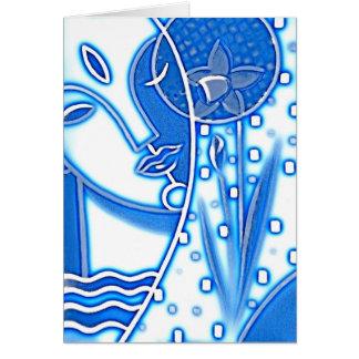 Cumprimento azul do narciso da mitologia grega cartão comemorativo