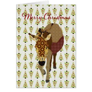 Cumprimento da árvore de Natal de Moses Cartão Comemorativo