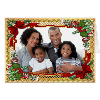 Cumprimento da foto da festão dos doces do Natal Cartão