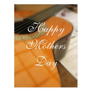 Cumprimento da guitarra do dia das mães cartão postal