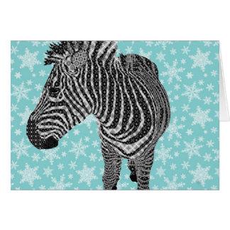 Cumprimento da zebra do vintage cartão comemorativo