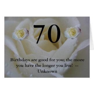 cumprimento das citações do rosa branco do cartão comemorativo
