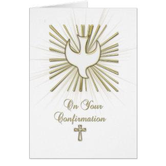 Cumprimento das felicitações da pomba do branco da cartão comemorativo