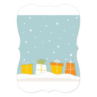 Cumprimento de papel do vintage: com neve convite 12.7 x 17.78cm