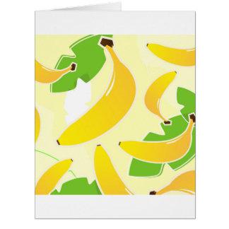 Cumprimento de papel grande com banana cartão