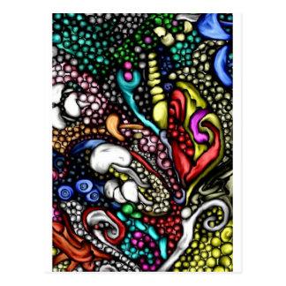 cumprimento digital e cartão do estilo da arte 3d