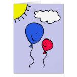 Cumprimento do balão do dia dos pais cartão comemorativo