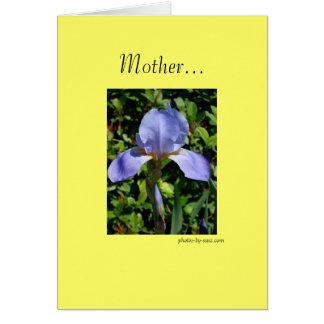 Cumprimento do dia das mães cartão comemorativo