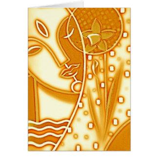 Cumprimento do narciso do ouro da mitologia grega cartão de nota