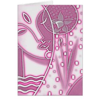 Cumprimento do narciso do rosa da mitologia grega cartão de nota