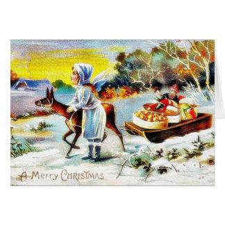 Cumprimento do Natal com o anjo que joga a música Cartões