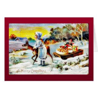 Cumprimento do Natal com o anjo que joga a música Cartoes