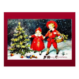 Cumprimento do Natal com o anjo que joga a música Cartões Postais