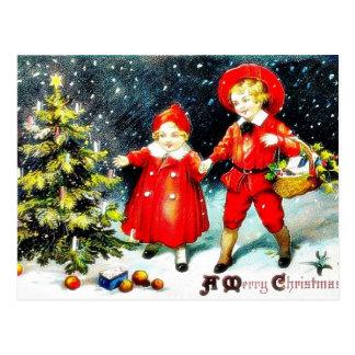Cumprimento do Natal com o anjo que joga a música Cartao Postal