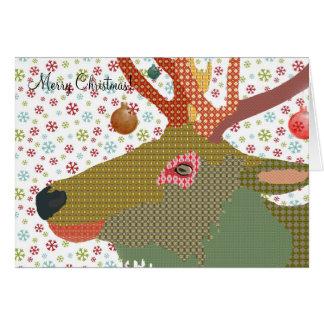 Cumprimento do Natal de Dakota Cartão Comemorativo