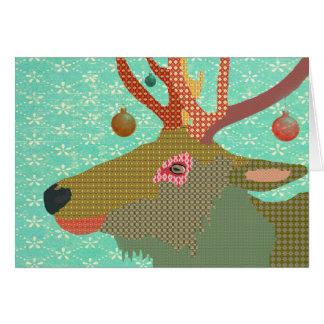Cumprimento do Natal de Montana Cartão Comemorativo