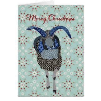 Cumprimento do Natal dos carneiros de Winterland Cartão Comemorativo