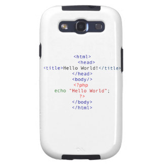 Cumprimento do PHP do geek Capas Personalizadas Samsung Galaxy S3
