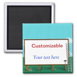 Cumprimento do quadro de avisos - customizável ímã quadrado