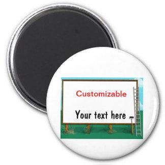 Cumprimento do quadro de avisos - customizável ímã redondo 5.08cm