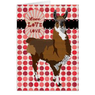 Cumprimento dourado do amor do lama cartão comemorativo