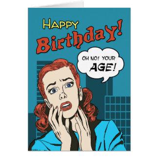 Cumprimento engraçado do aniversário do cobrir de cartão comemorativo