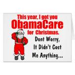 Cumprimento engraçado do Natal de ObamaCare Cartao