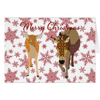Cumprimento festivo do Natal dos amigos da Cartão Comemorativo