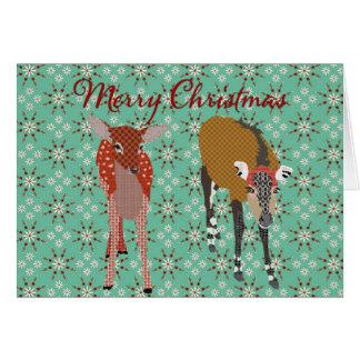 Cumprimento festivo do Natal dos amigos II da Cartão Comemorativo
