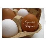 cumprimento francês do ovo da páscoa cartao